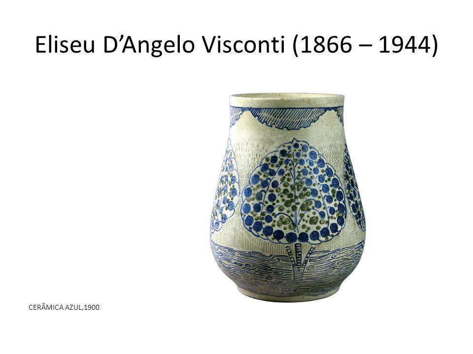 Eliseu D'Angelo Visconti (1866 – 1944) CERÃMICA AZUL,1900