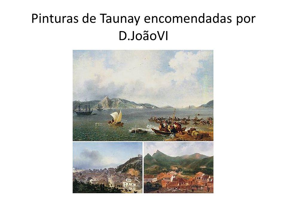 Pinturas de Taunay encomendadas por D.JoãoVI