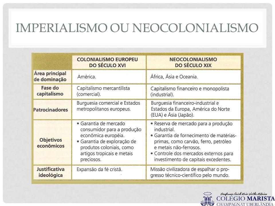 IMPERIALISMO OU NEOCOLONIALISMO