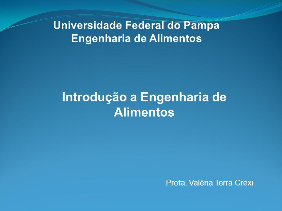 Universidade Federal do Pampa Engenharia de Alimentos Introdução a Engenharia de Alimentos Profa. Valéria Terra Crexi