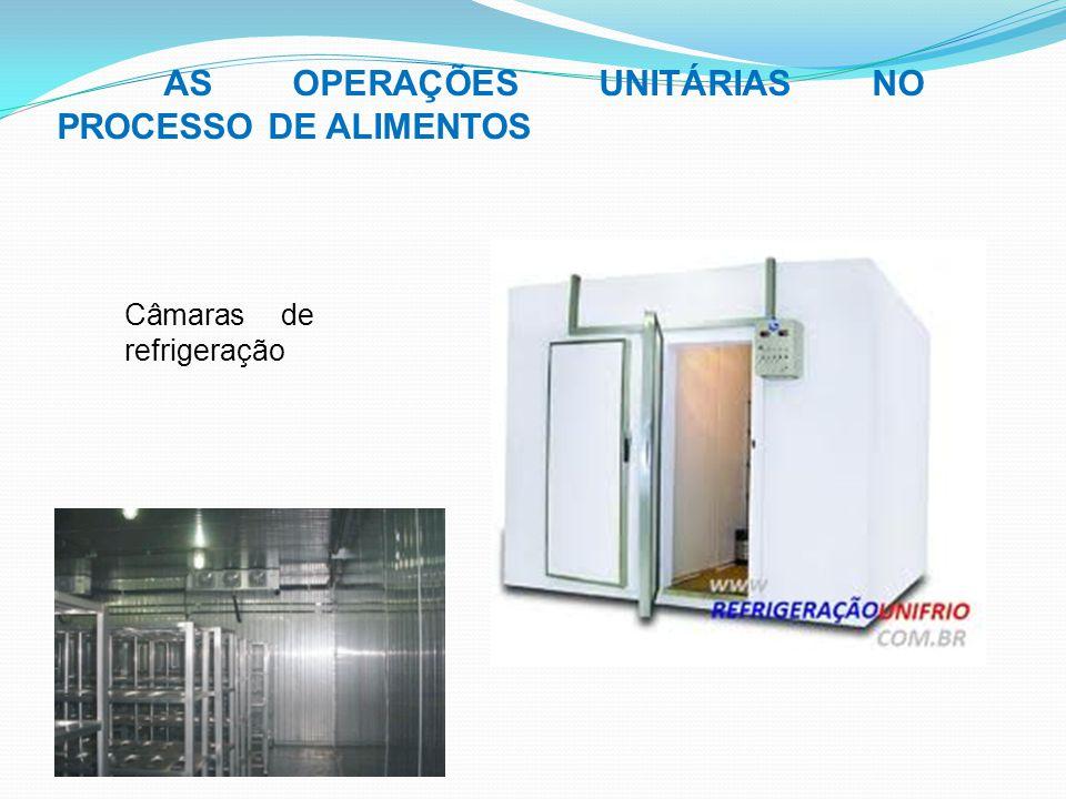 AS OPERAÇÕES UNITÁRIAS NO PROCESSO DE ALIMENTOS Câmaras de refrigeração