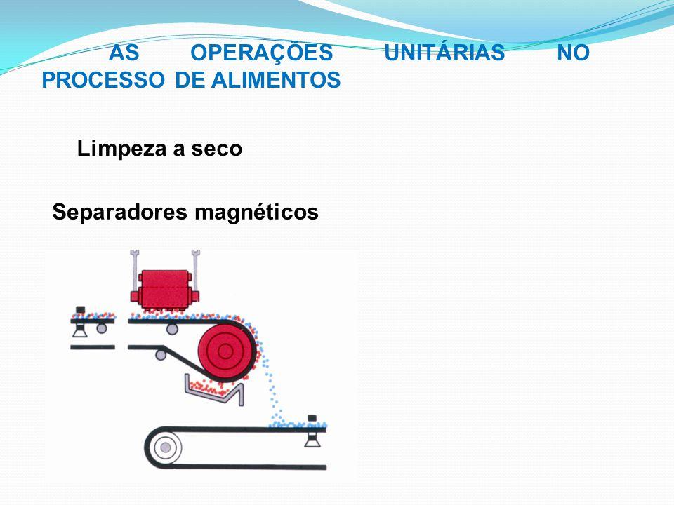 Limpeza a seco AS OPERAÇÕES UNITÁRIAS NO PROCESSO DE ALIMENTOS Separadores magnéticos