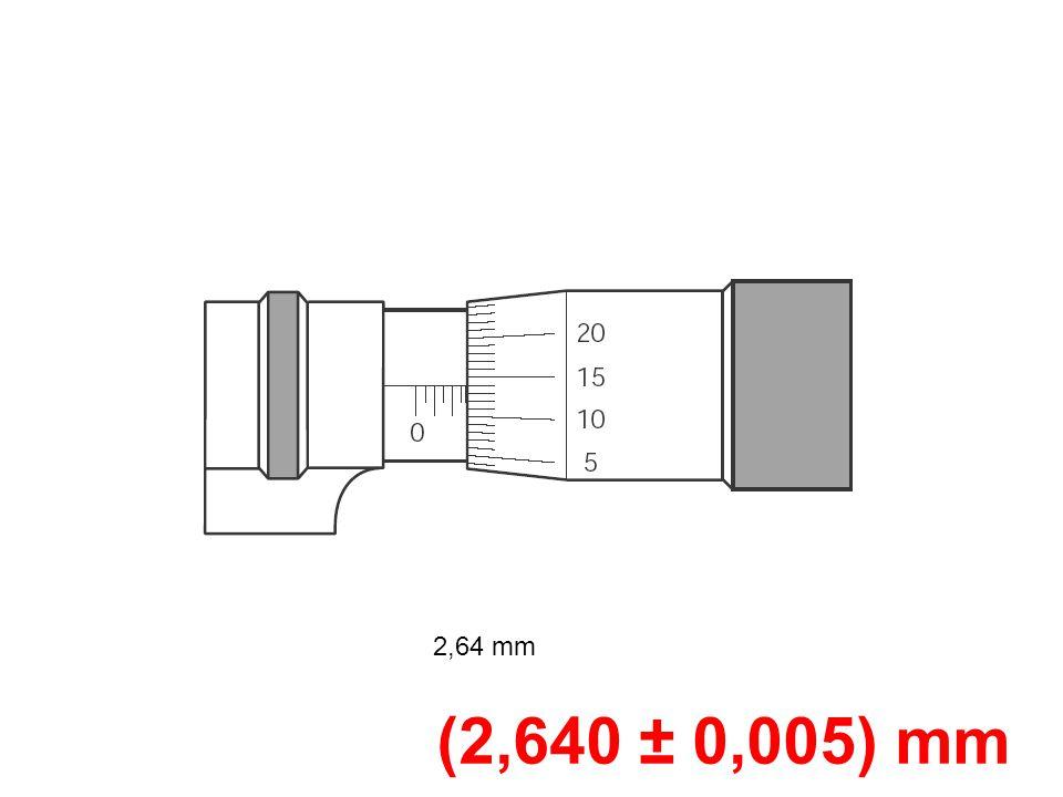 2,64 mm (2,640 ± 0,005) mm