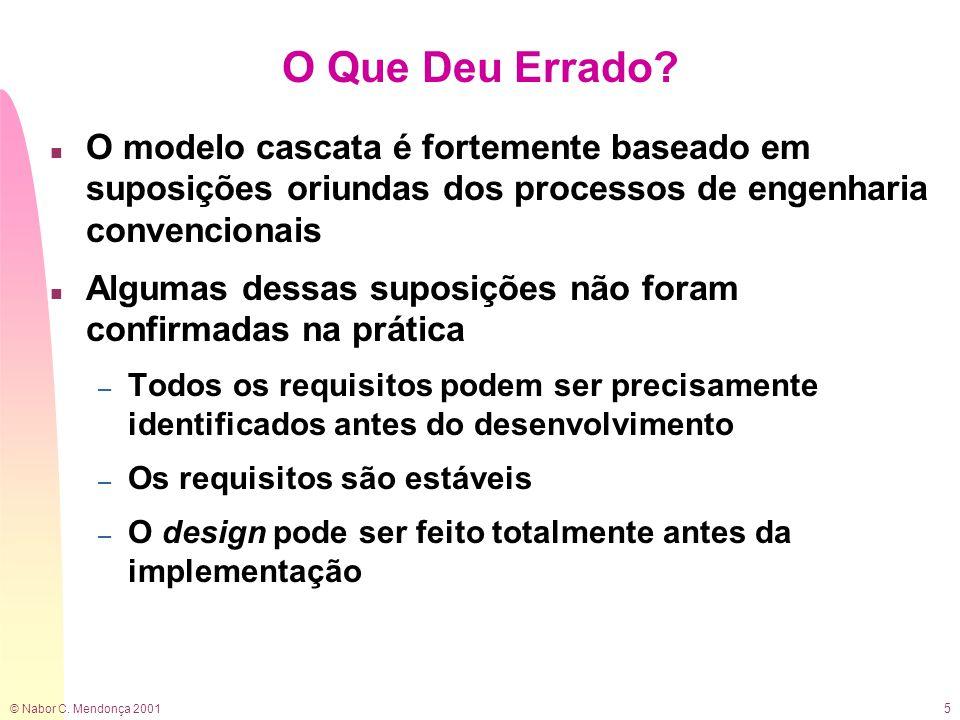 © Nabor C. Mendonça 2001 5 O Que Deu Errado.