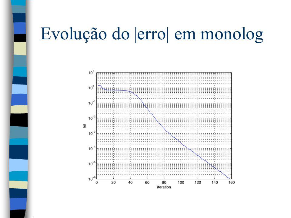 Evolução do |erro| em monolog