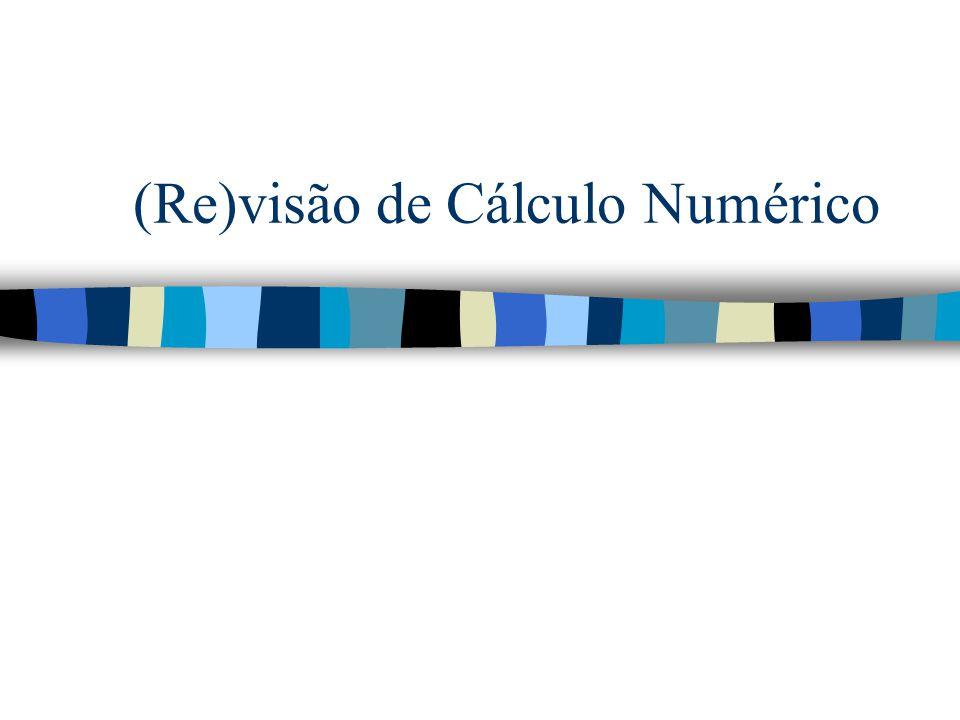 (Re)visão de Cálculo Numérico