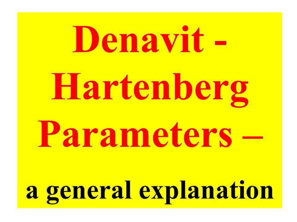 Denavit - Hartenberg Parameters – a general explanation