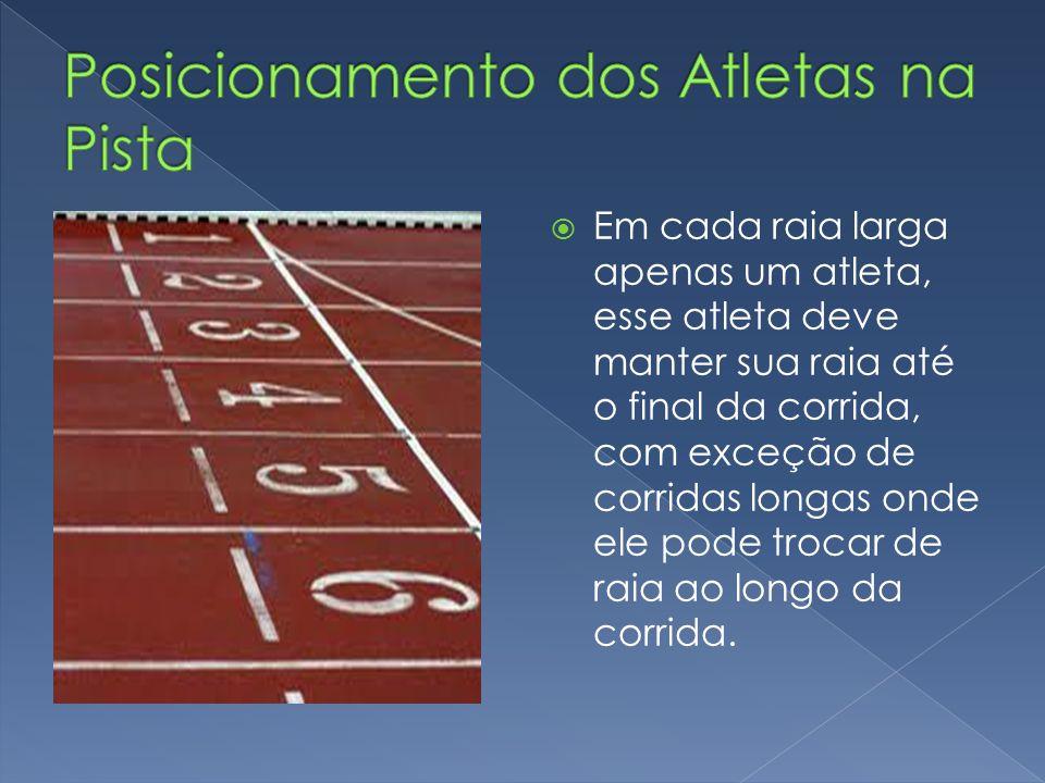  Corrida curta:  As corridas dividem-se em curta distância ou velocidade (tiro rápido), que nas competições oficiais vão de 100, 200 e os 400 metros inclusive.