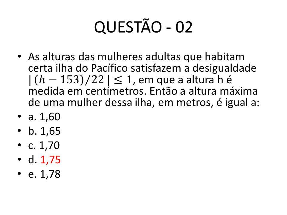 QUESTÃO - 03