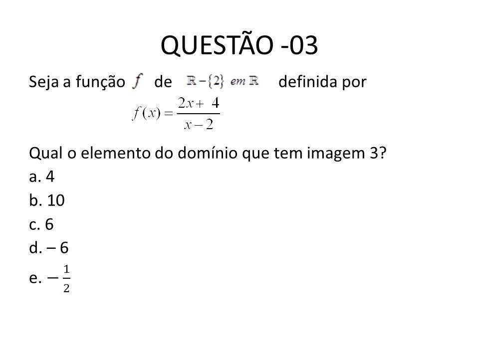 QUESTÃO -03