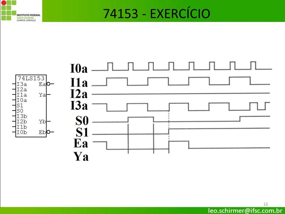 16 74153 - EXERCÍCIO leo.schirmer@ifsc.com.br