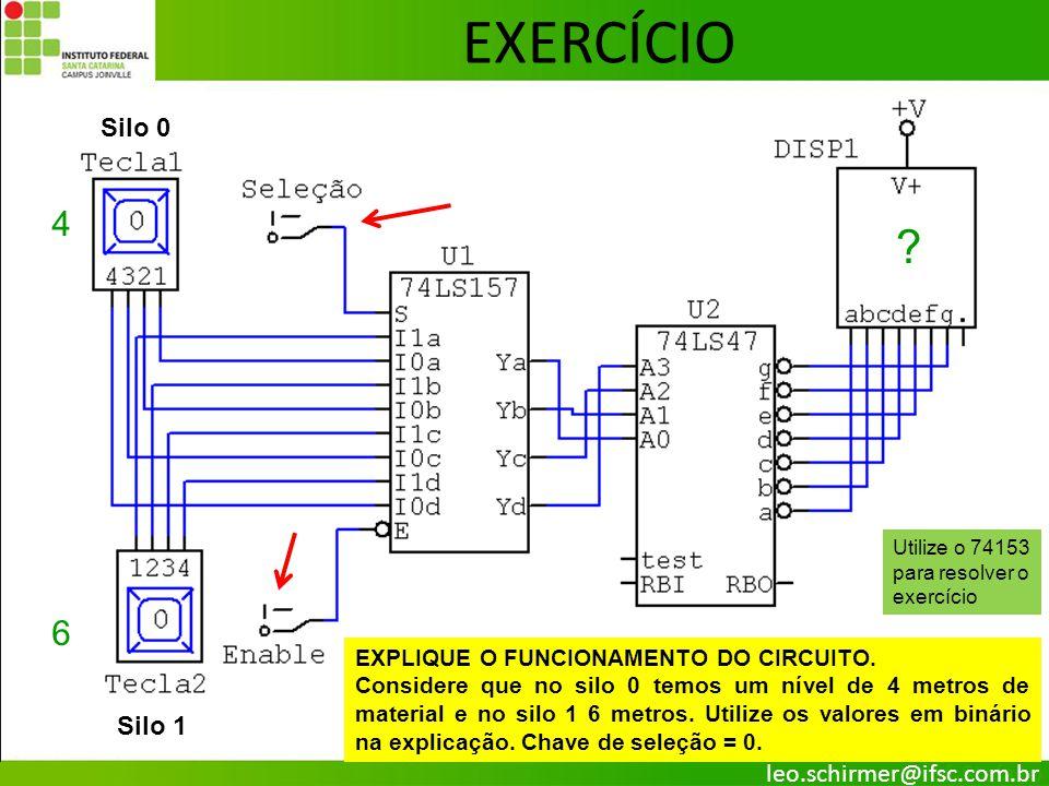 27 EXERCÍCIO Silo 0 Silo 1 EXPLIQUE O FUNCIONAMENTO DO CIRCUITO. Considere que no silo 0 temos um nível de 4 metros de material e no silo 1 6 metros.