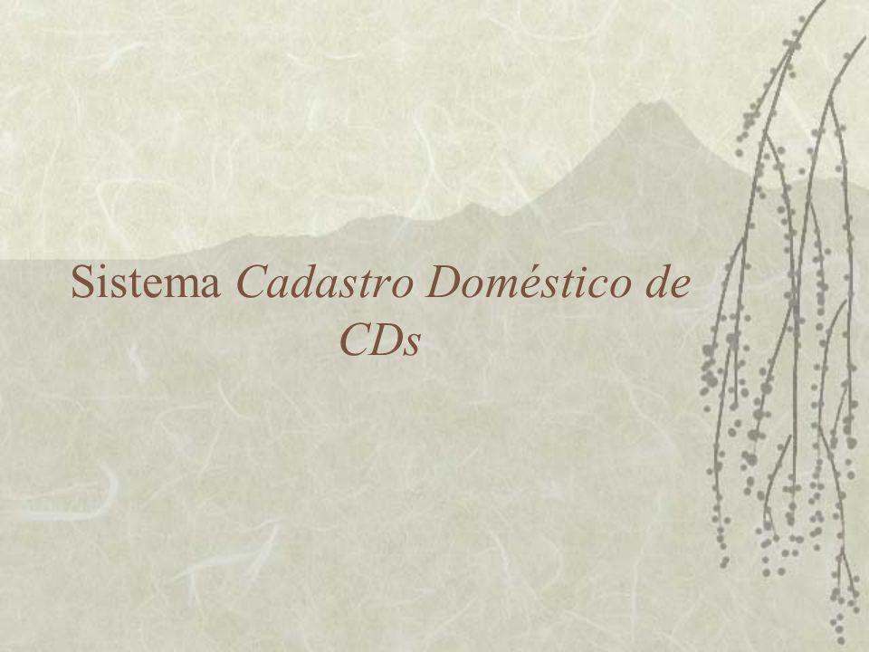 Sumário Executivo  Este sistema deve gerenciar um acervo domésticos de CDs.