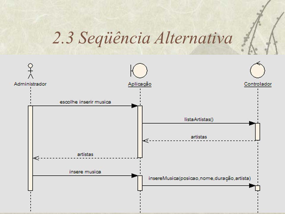 2.3 Seqüência Alternativa