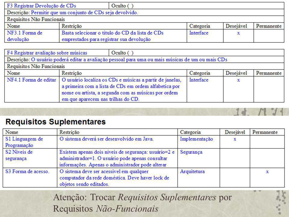Organização dos Requisitos em Casos de Uso