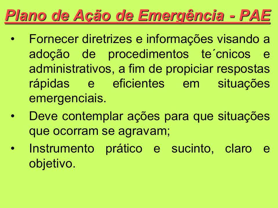 Fornecer diretrizes e informações visando a adoção de procedimentos te´cnicos e administrativos, a fim de propiciar respostas rápidas e eficientes em situações emergenciais.