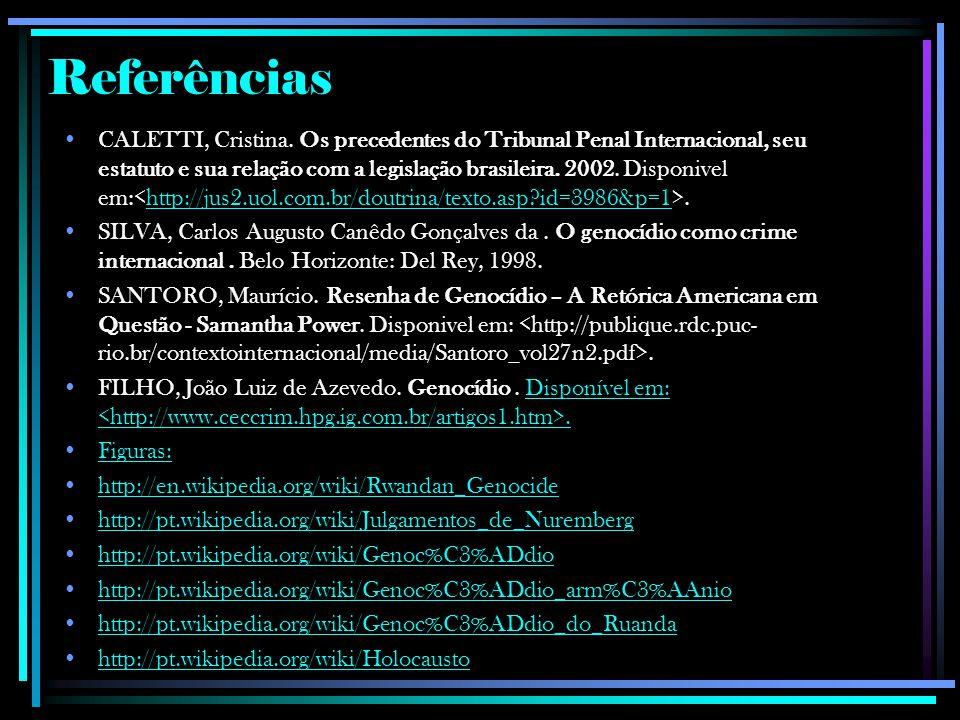 Referências CALETTI, Cristina.
