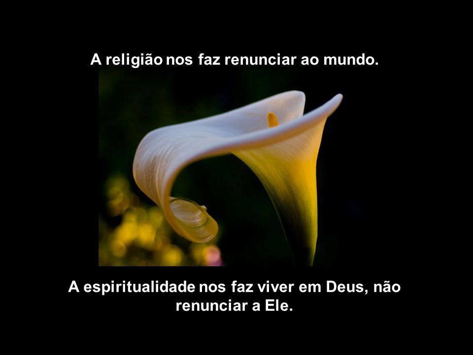 A religião alimenta o ego. A espiritualidade nos faz Transcender.