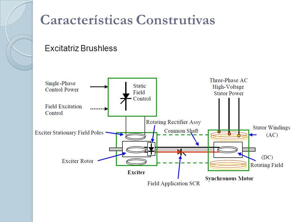 Características Construtivas Excitatriz Brushless
