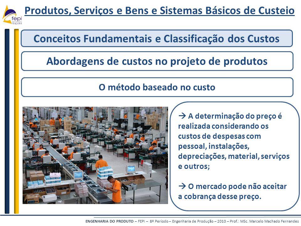 ENGENHARIA DO PRODUTO – FEPI – 8º Período – Engenharia de Produção – 2010 – Prof.: MSc. Marcelo Machado Fernandes Produtos, Serviços e Bens e Sistemas