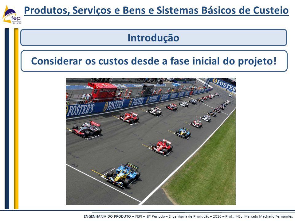 ENGENHARIA DO PRODUTO – FEPI – 8º Período – Engenharia de Produção – 2010 – Prof.: MSc.