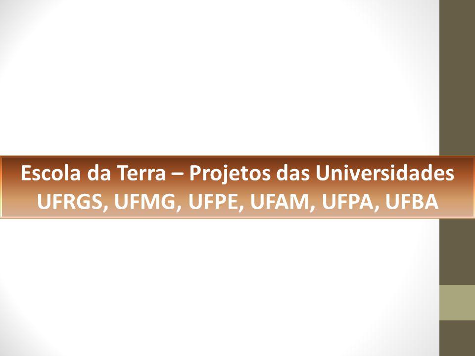 Escola da Terra – Projetos das Universidades UFRGS, UFMG, UFPE, UFAM, UFPA, UFBA
