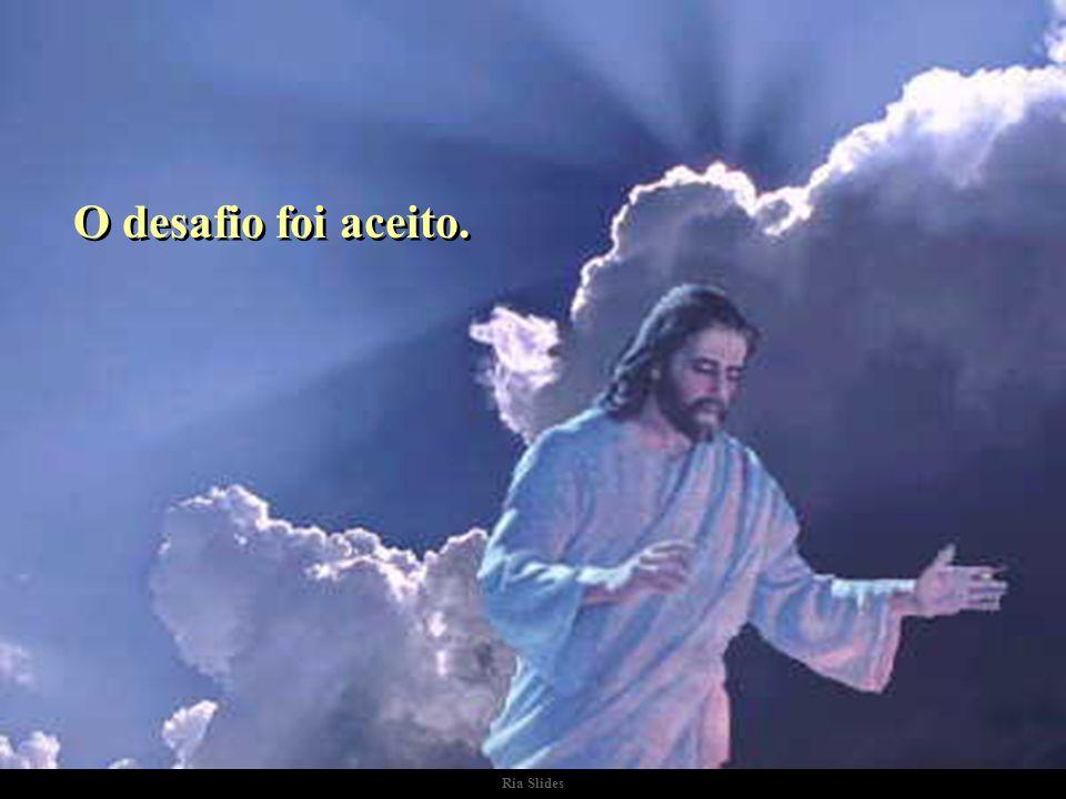 Ria Slides Certa vez, o Diabo fez um desafio a Jesus: - Aposto como digito muito mais rápido do que você!