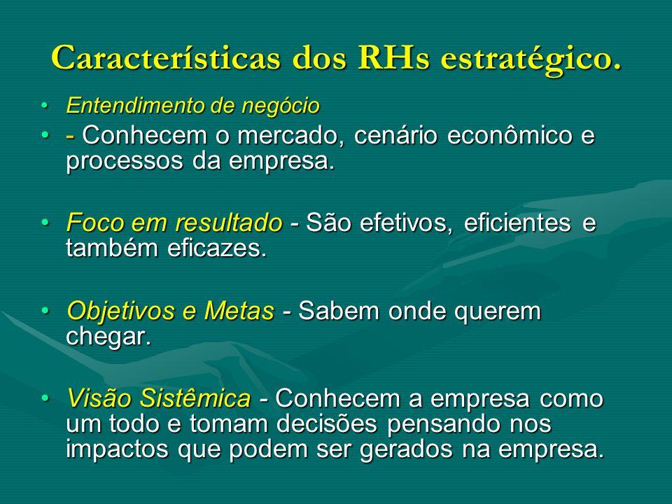 Características dos RHs estratégico.
