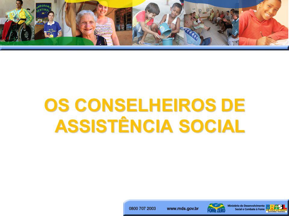 OS CONSELHEIROS DE ASSISTÊNCIA SOCIAL