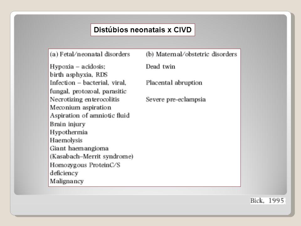 Distúbios neonatais x CIVD