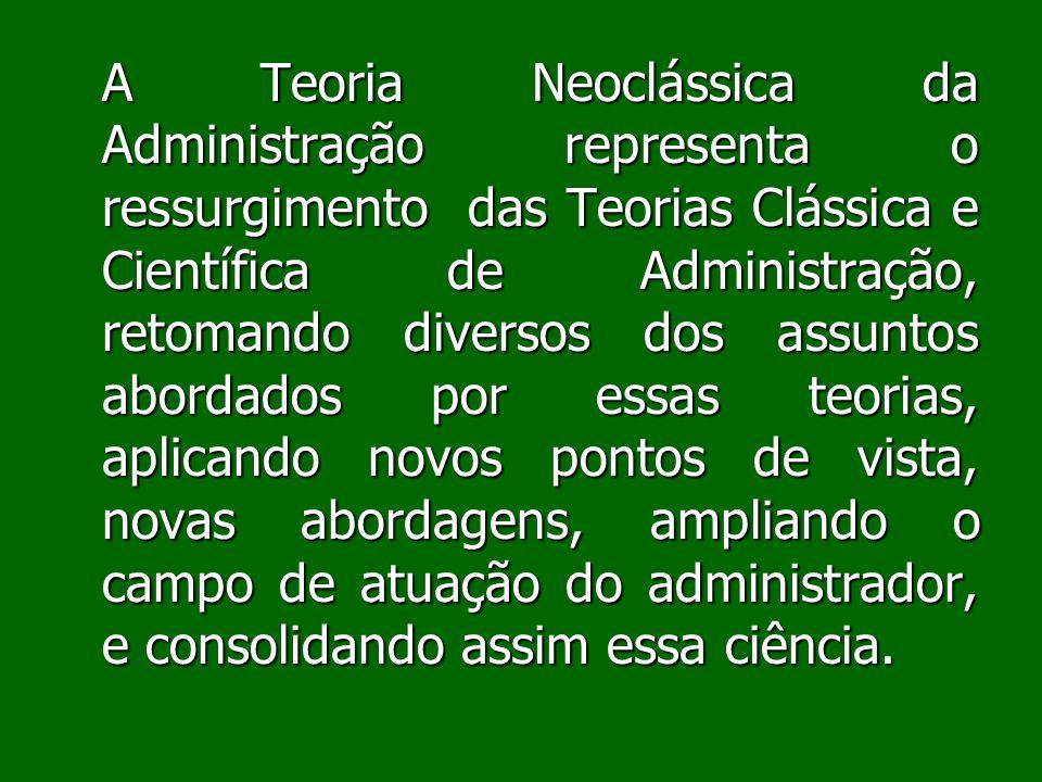 Apreciação Crítica Administrar é muito mais que uma mera função de gerenciamento de pessoas, recursos e de atividades, como afirma a Teoria Neoclássica.
