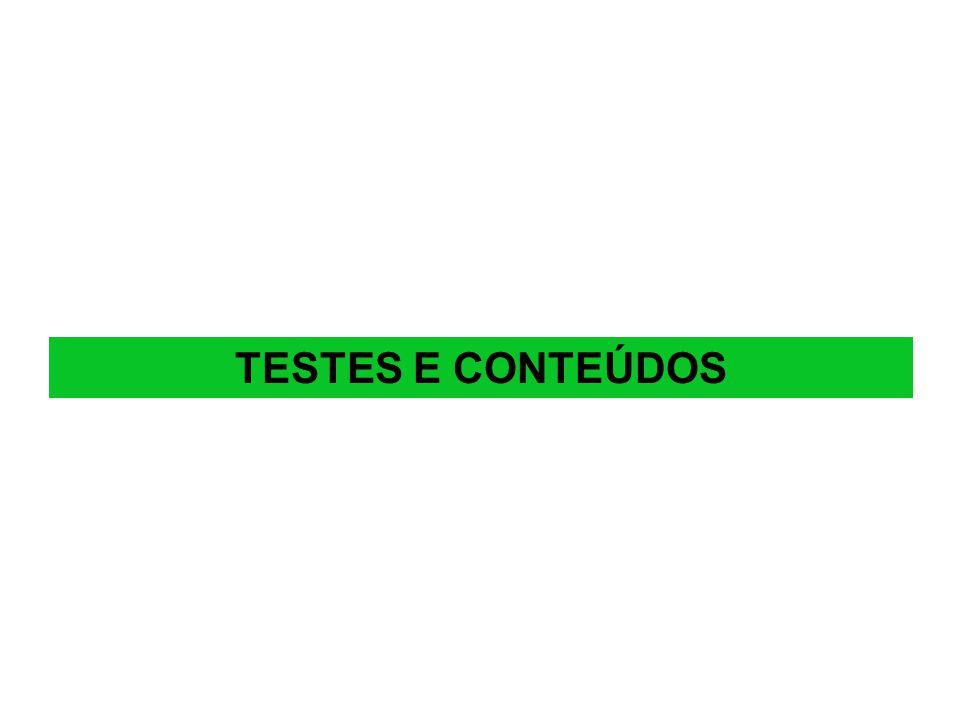 TESTES E CONTEÚDOS