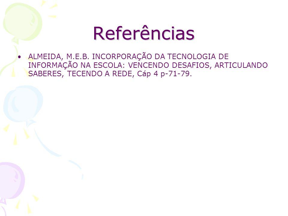 Referências ALMEIDA, M.E.B.