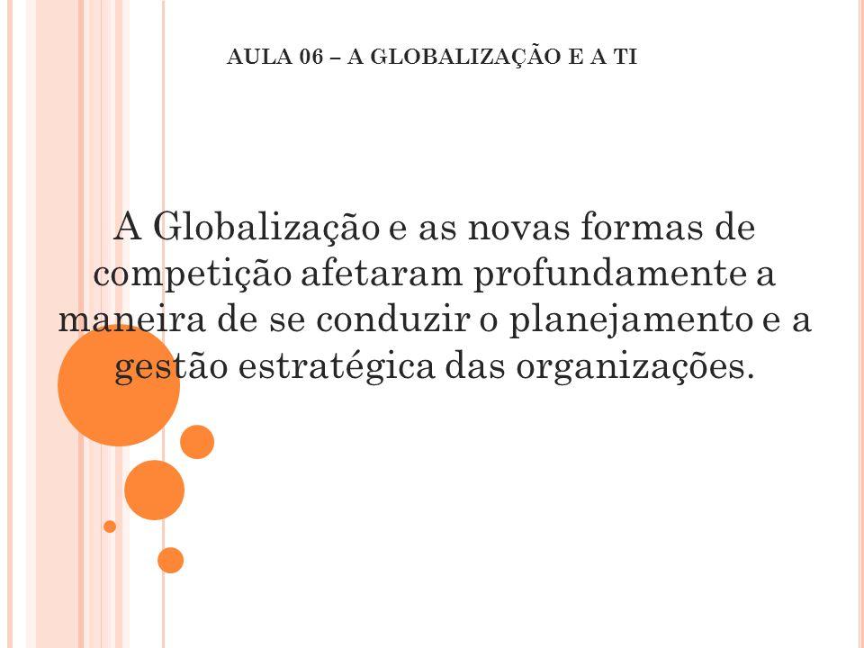 A Globalização e as novas formas de competição afetaram profundamente a maneira de se conduzir o planejamento e a gestão estratégica das organizações.