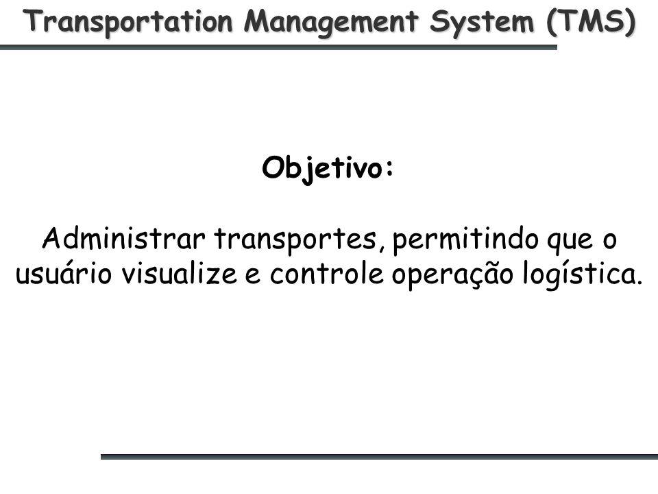 Transportation Management System (TMS) Objetivo: Administrar transportes, permitindo que o usuário visualize e controle operação logística.