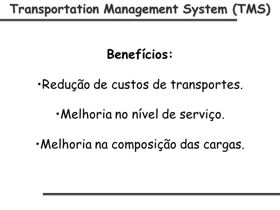 Transportation Management System (TMS) Benefícios: Redução de custos de transportes.
