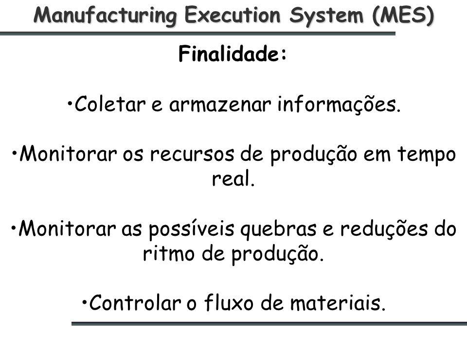 Manufacturing Execution System (MES) Finalidade: Coletar e armazenar informações.