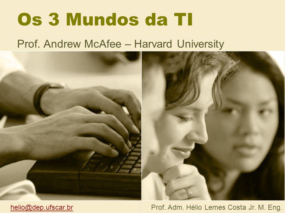 As três categorias de TI Entre executivos, muito se fala da revolução que o computador causou na empresa.