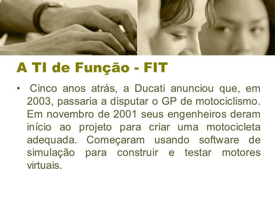 A TI de Função - FIT Cinco anos atrás, a Ducati anunciou que, em 2003, passaria a disputar o GP de motociclismo.