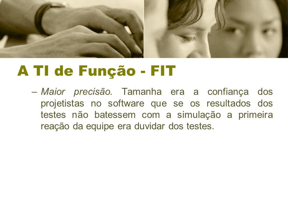 A TI de Função - FIT –Maior precisão.
