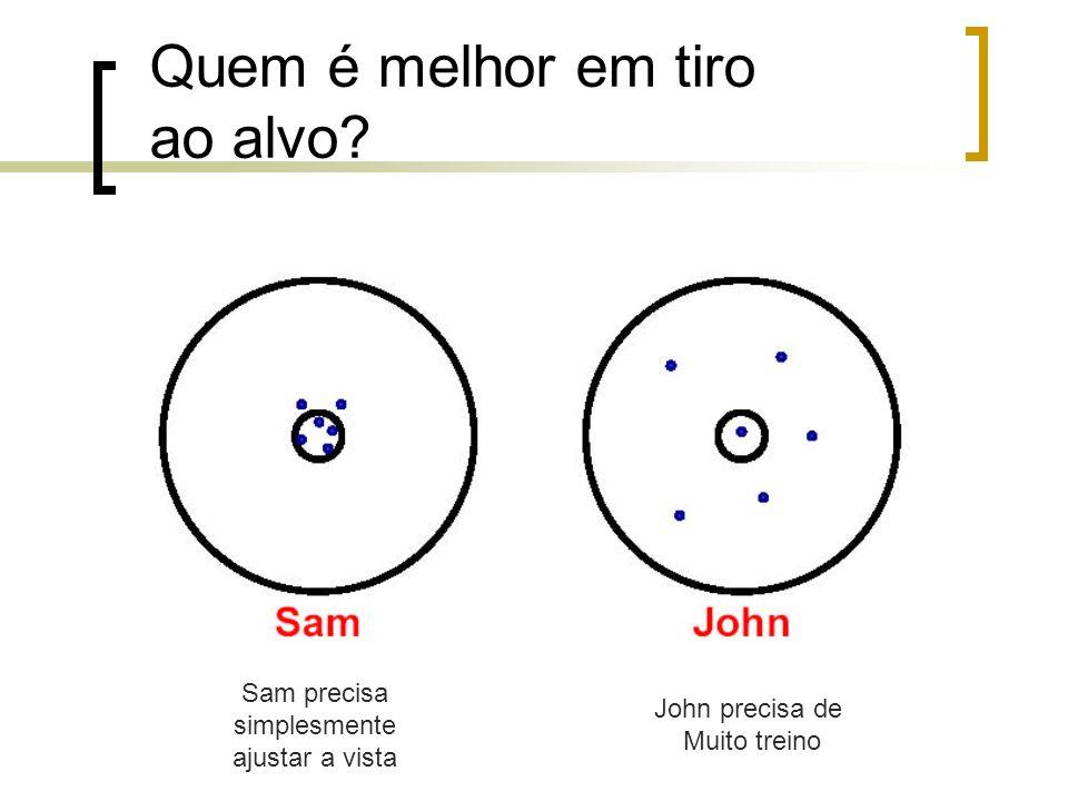 Sam precisa simplesmente ajustar a vista John precisa de Muito treino