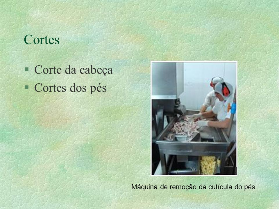 Cortes §Corte da cabeça §Cortes dos pés Máquina de remoção da cutícula do pés