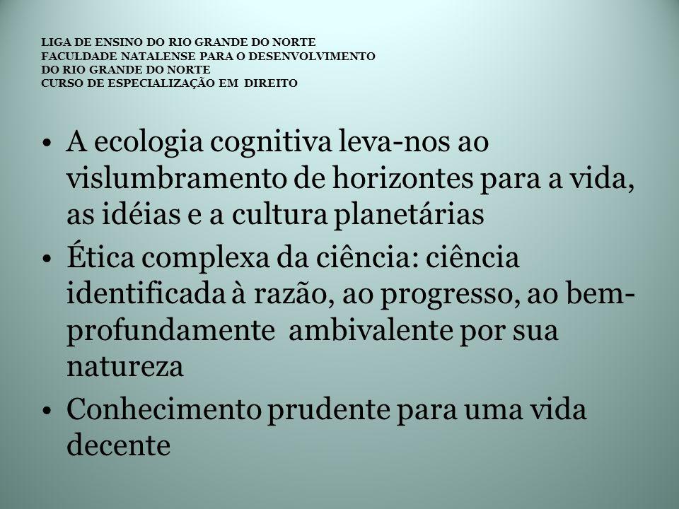 LIGA DE ENSINO DO RIO GRANDE DO NORTE FACULDADE NATALENSE PARA O DESENVOLVIMENTO DO RIO GRANDE DO NORTE CURSO DE ESPECIALIZAÇÃO EM DIREITO A ecologia