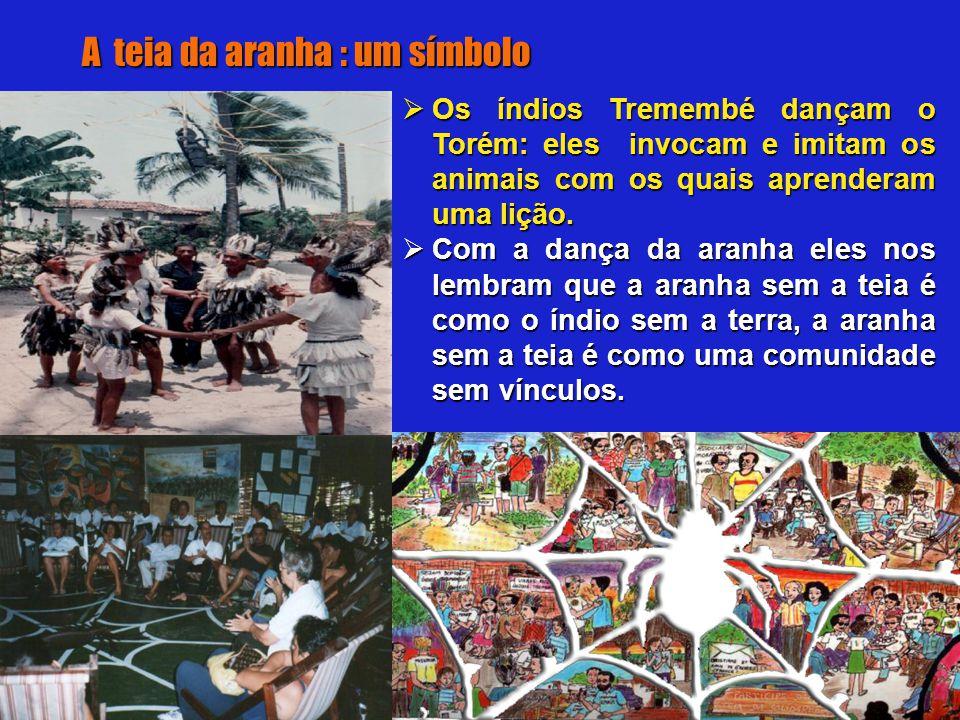  Os índios Tremembé dançam o Torém: eles invocam e imitam os animais com os quais aprenderam uma lição.