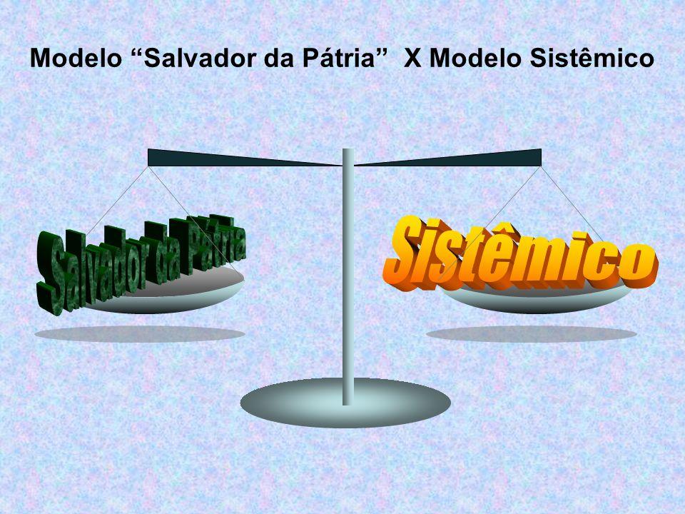 Modelo Salvador da Pátria X Modelo Sistêmico
