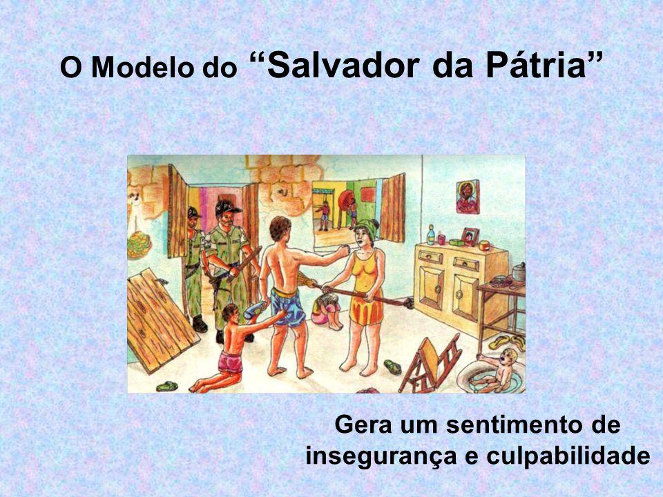 Gera um sentimento de insegurança e culpabilidade O Modelo do Salvador da Pátria