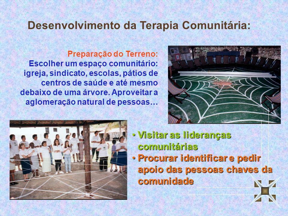 Preparação do Terreno: Escolher um espaço comunitário: igreja, sindicato, escolas, pátios de centros de saúde e até mesmo debaixo de uma árvore.