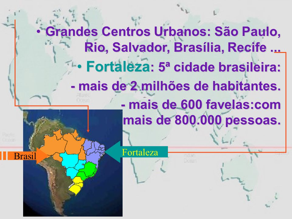  Favela do Pirambu = 280.000 habitantes.