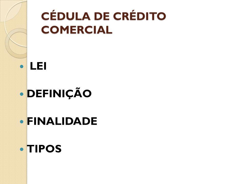 LEI DEFINIÇÃO FINALIDADE TIPOS