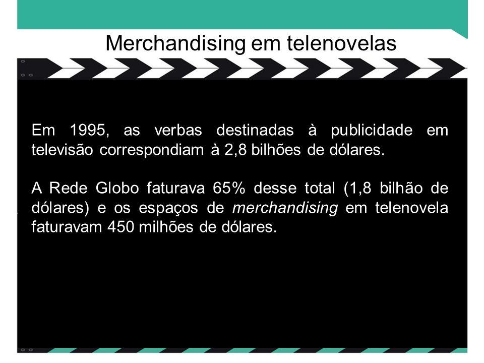 Em 1995, as verbas destinadas à publicidade em televisão correspondiam à 2,8 bilhões de dólares.